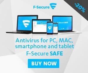 F-Secure SAFE – 25% OFF