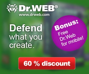 Dr.Web Security Products – 60% OFF