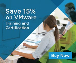 VMware Training and Education – 15% OFF