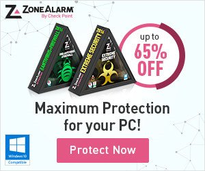 ZoneAlarm 2018 – up to 65% OFF