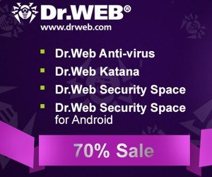 Dr.Web Security Products Sale – 70% OFF