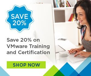 VMware Training and Education – 20% OFF