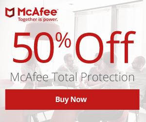 McAfee Intel Security 2018 – 50% OFF