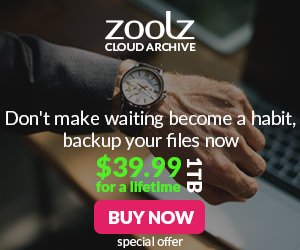 GET 1 TB cloud storage with Zoolz for $39.99