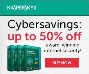 Kaspersky 2018 Cyber Savings – up to 60% OFF
