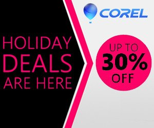 Corel Software Holiday Sale – 30% OFF