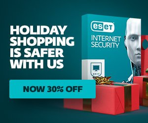 ESET Software Holiday Sale – 30% OFF