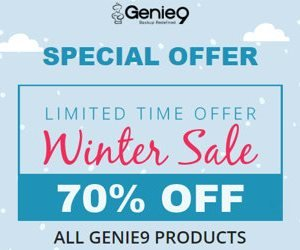 Genie Timeline Winter Sale – 70% OFF on ALL Products