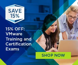 VMware Training and Certification – 15% OFF