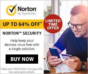 Norton by Symantec Flash Sale – 64% OFF